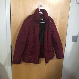 Calvin Klein red winter coat